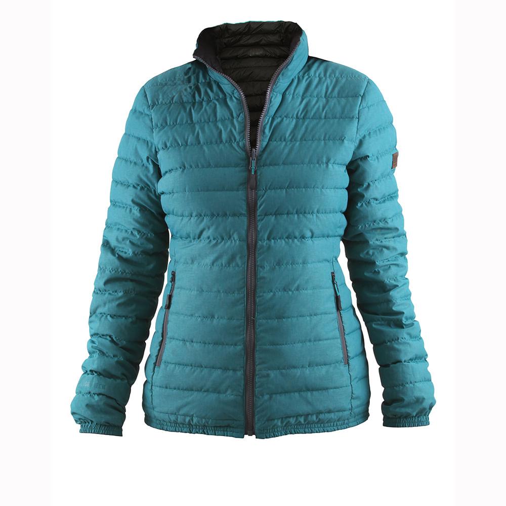 al por mayor descuento mejor precio Parka Pluma HW Goose Reversible Mujer Negro/Turquesa - hwwear